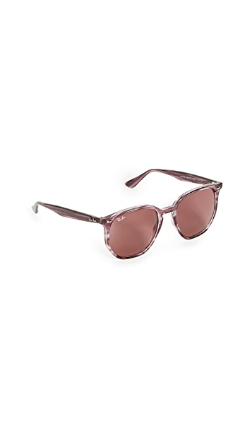 Ray-Ban 54 Highstreet Hexagonal Sunglasses
