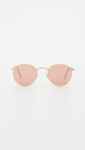 Ray-Ban 0RB344 Round Metal Sunglases