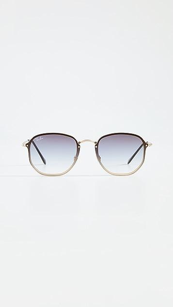 Ray-Ban 0RB357 Round Aviator Sunglasses