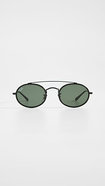 Ray-Ban 0RB384 窄款椭圆形太阳镜