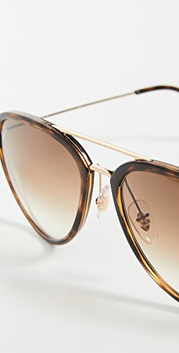 Ray-Ban - 0RB429 Oversized Aviator Sunglasses