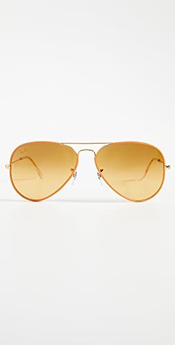 Ray-Ban - Full Color Aviator Sunglasses
