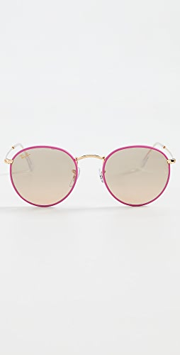 Ray-Ban - Full Color Round Sunglasses