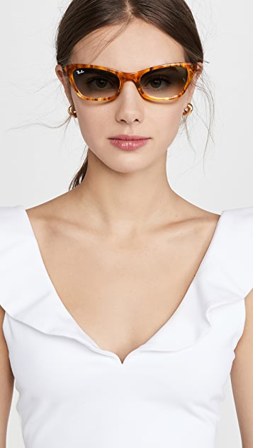 Ray-Ban 雷朋 Lady Burbank 窄款猫眼太阳镜