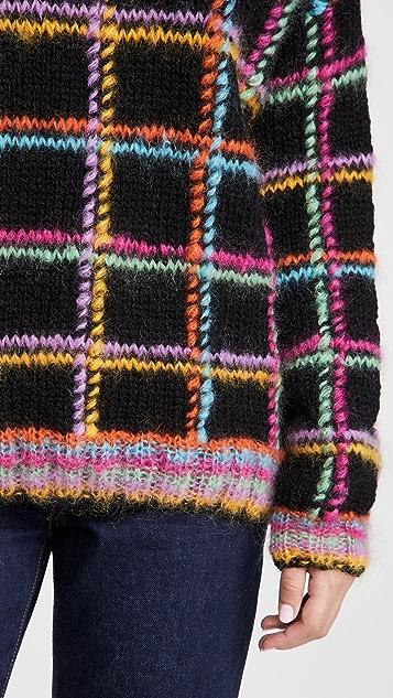 Rose Carmine Highneck Sweater