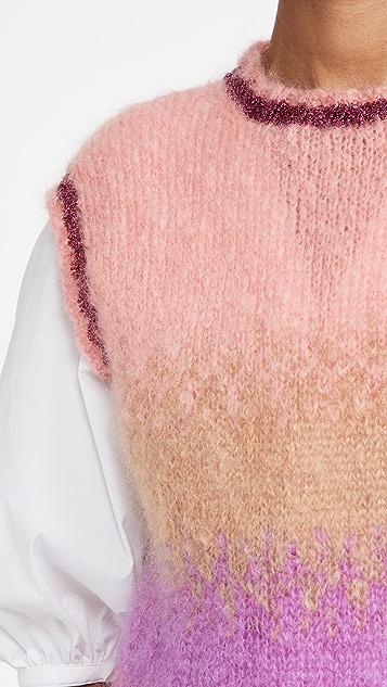 Rose Carmine 马海毛针织马甲
