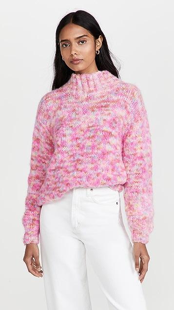 Rose Carmine 高领毛衣
