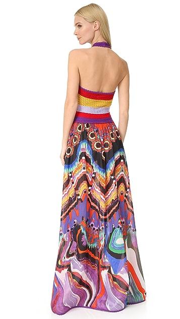 Roberto Cavalli Halter Maxi Dress