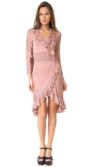 Roberto Cavalli LS Ruffle Dress