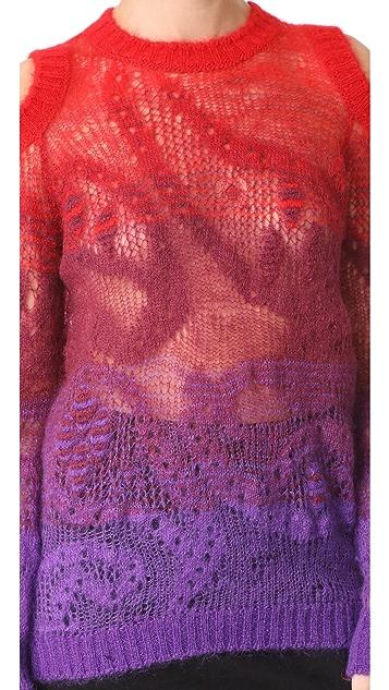 Roberto Cavalli Mohair Ombre Cold Shoulder