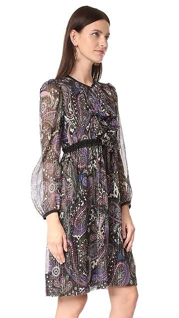 Roberto Cavalli Long Sleeve Printed Dress