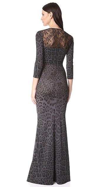 Roberto Cavalli V Neck Maxi Dress