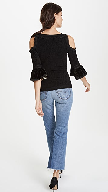 Roberto Cavalli Cold Shoulder Top