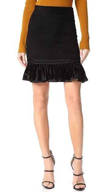 Roberto Cavalli Ruffle Miniskirt