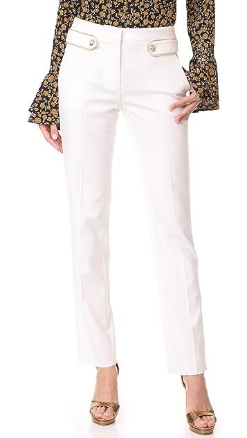 Roberto Cavalli Button Detail Trousers