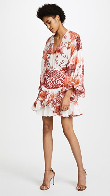 Roberto Cavalli Coral Reef Woven Dress