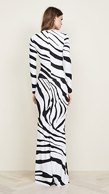 Roberto Cavalli Zebra V Neck Dress
