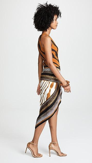 Roberto Cavalli Animal Foulard Dress