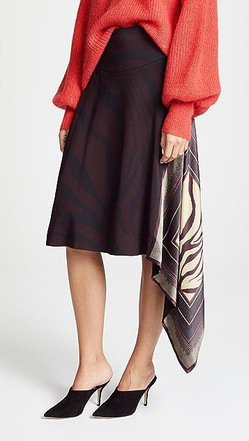 Roberto Cavalli Scarf Midi Skirt