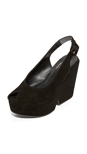 Robert Clergerie Peep Toe Wedge Sandals