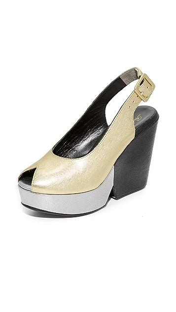 c0cf206282d6 Clergerie Dylanan Block Heel Sandals