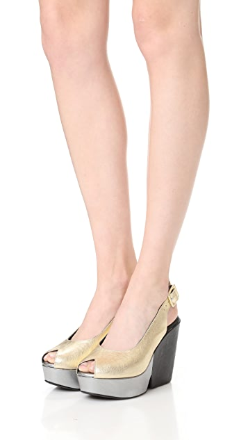 Robert Clergerie Dylanan Block Heel Sandals