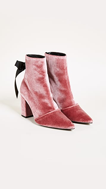 Robert Clergerie x Self-Portrait Karlit Lace Up Booties