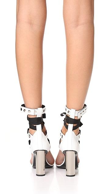Robert Clergerie x Self Portrait Block Heel Sandals