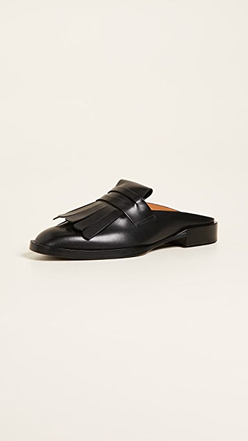 Robert Clergerie Yumi Loafer Mules - Black