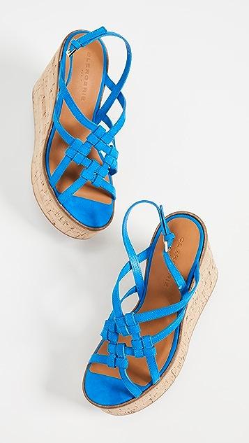 Robert Clergerie Platform Wedge Sandals