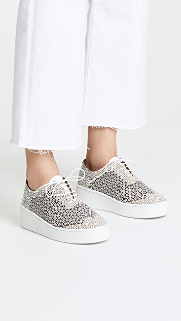 Robert Clergerie Laser Cutout Oxfords