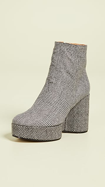 Clergerie Belent Platform Booties - Plaid