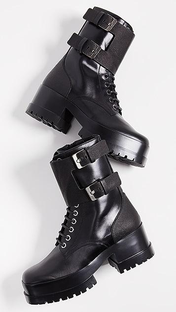 Robert Clergerie Армейские ботинки Willy на платформе