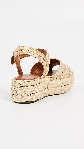 Robert Clergerie Aude Flatform Sandals