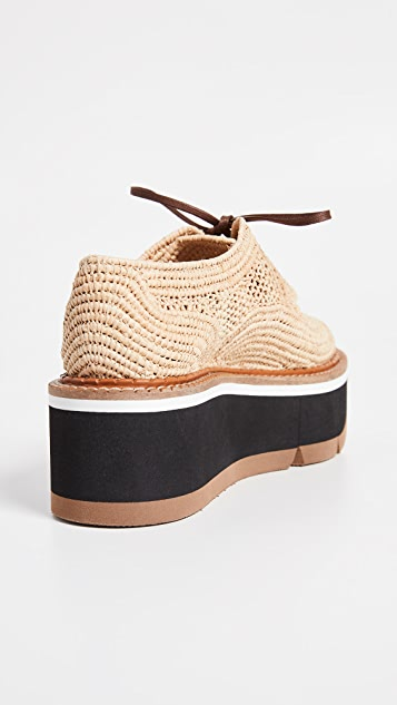 Clergerie Acajou Wedge Oxford Shoes