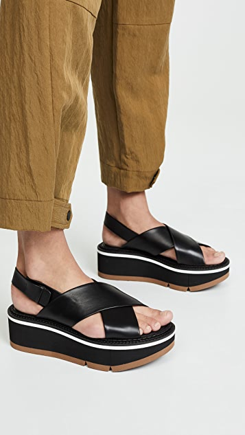 Robert Clergerie Anae Crisscross Sandals