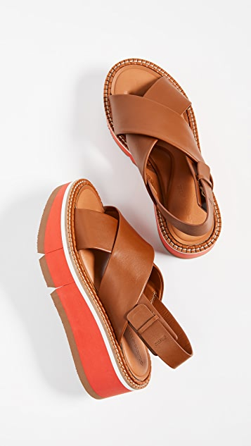 Clergerie Anae Crisscross Sandals