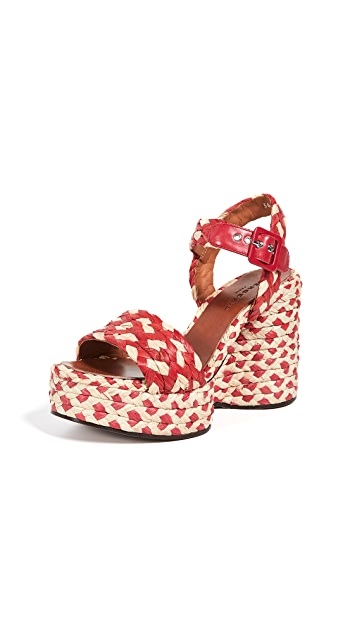 Clergerie Arizona Wedge Sandals