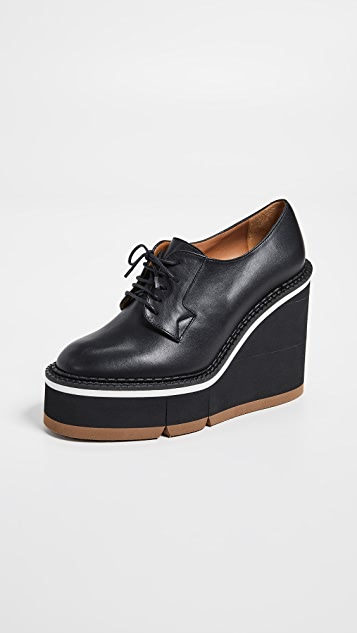 Clergerie Badiane Wedge Oxfords - Black
