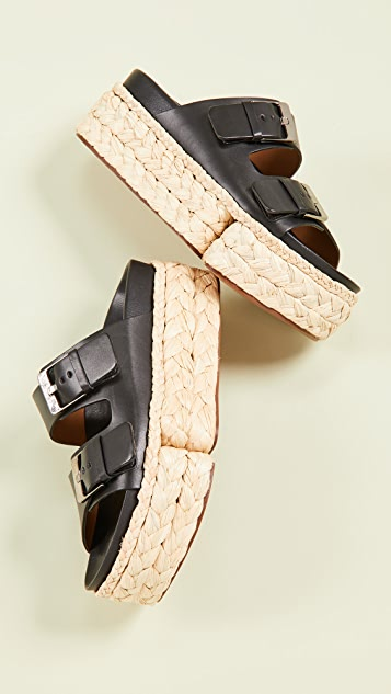 Clergerie Abby Two Band Slide Sandals