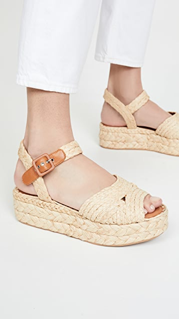 Clergerie Aida 编织底便鞋