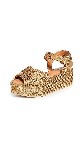 Clergerie Aruba 坡跟编织底便鞋
