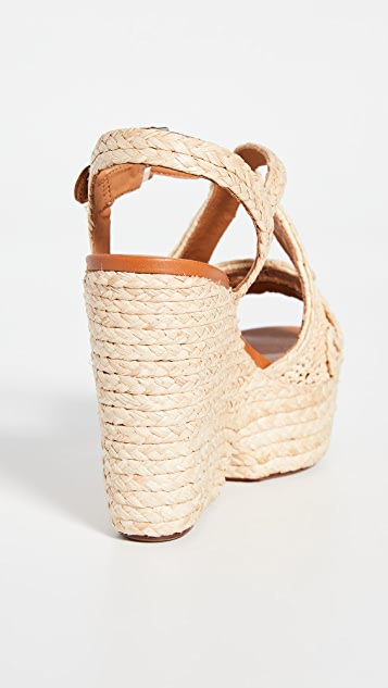 Clergerie Doloria 坡跟编织底便鞋