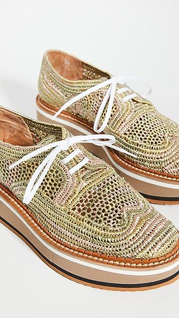 Clergerie Birtie Rafia 牛津鞋