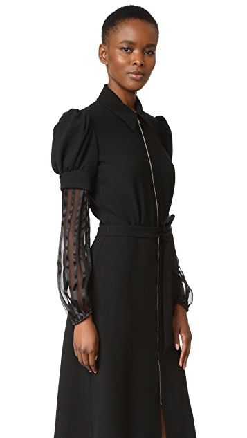 Rodarte Wool & Chiffon Dress
