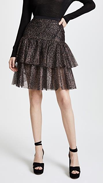Rodarte Sparkle Two Tier Ruffle Skirt