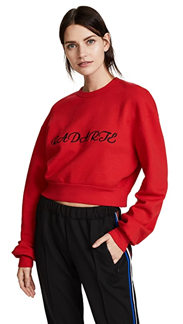 Rodarte Radarte Los Angeles Cropped Sweatshirt
