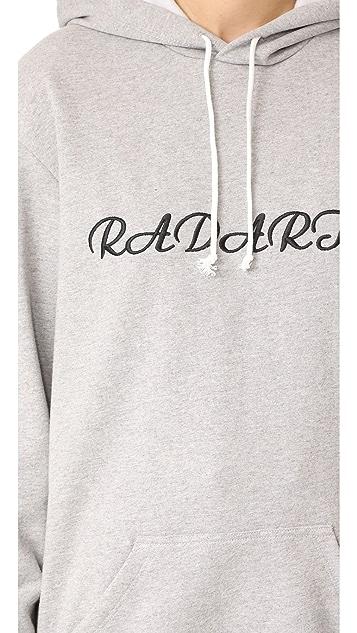 Rodarte Los Angeles Oversized Embroidery Hoodie