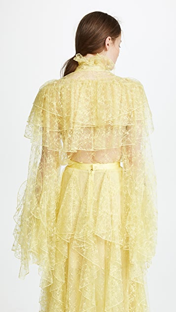 Rodarte Lace Long Sleeve Blouse