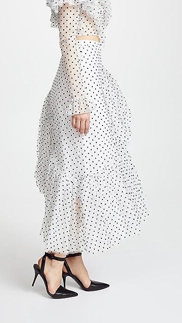 Rodarte Asymmetrical Ruffle Skirt